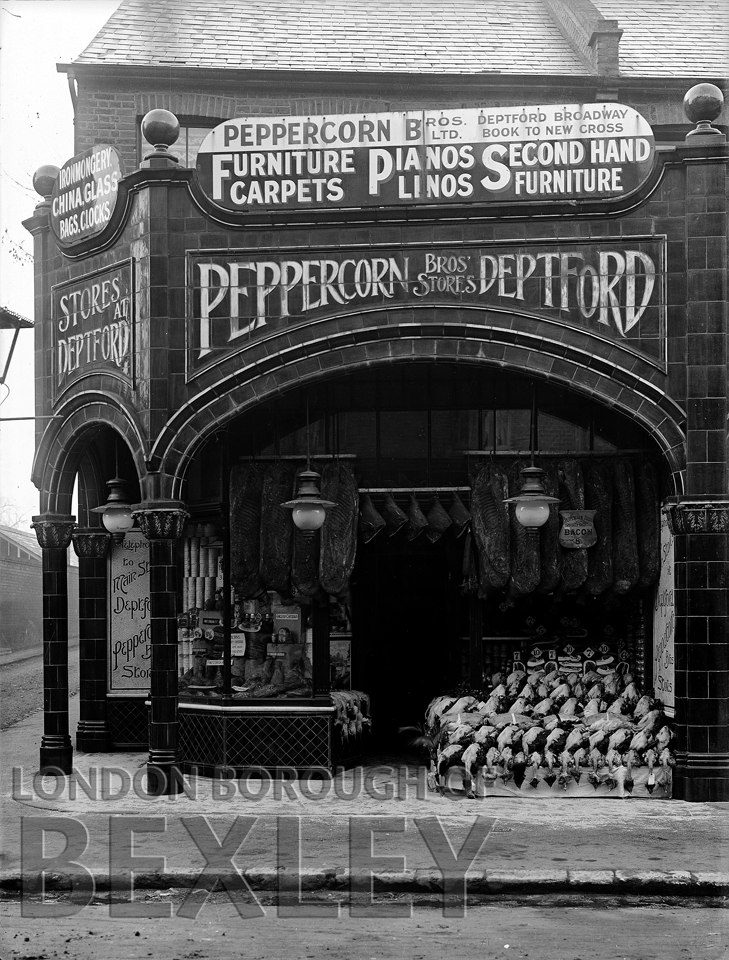 #wednesdaythought Jack of all trades comes to mind with this photo of Peppercorn Brothers, Sidcup branch trading in #Furniture, #carpets, linos, pianos, china, glass and a whole lot of dead birds! c1911 @AllandAboutSidc @LBofBexley @BexleyLibraries @ProgressiveWel1 @ErithLink