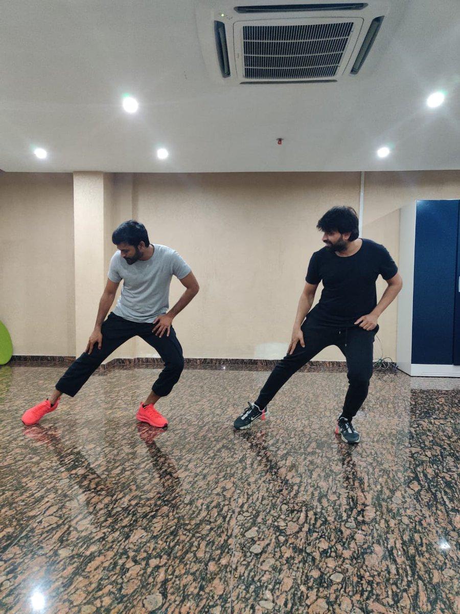 Rehearsing for a Super crazy song from #D43 with @dhanushkraja Sir 🤩  Another Trending song from #Dhanush sir is on the way 🔥  @karthicknaren_M @TGThyagarajan @SathyaJyothi_ @MalavikaM_ @gvprakash @Lyricist_Vivek