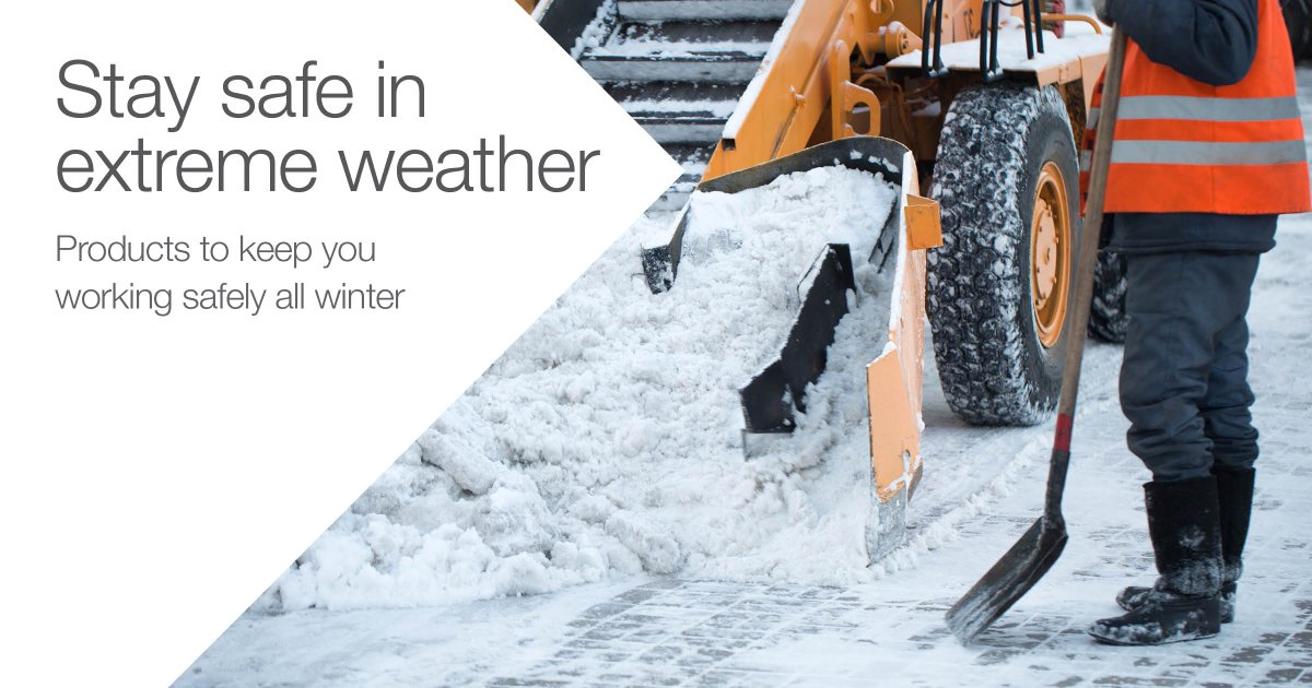 Extreme weather can disrupt work, close sites and put people at risk of accidents and injuries occurring.  We've got everything you need to keep you working safety this winter.  Click here https://t.co/LNivf7BCxb #winter #weather https://t.co/6H5MujyD4j