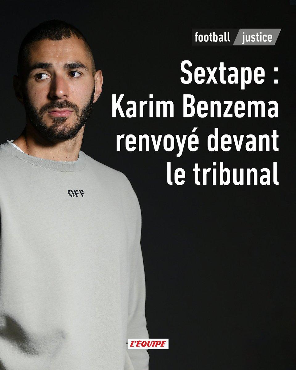 Karim Benzema renvoyé devant le tribunal correctionnel  Le parquet de Versailles a annoncé que Karim Benzema sera jugé, ainsi que quatre autres personnes, dans cette affaire de chantage à la sextape à l'encontre de son ancien coéquipier Mathieu Valbuena