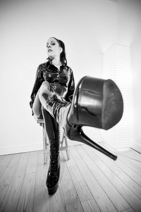 Kneel before your Queen, close your eyes, and present HRH with your tongue. These boots need a good polishing