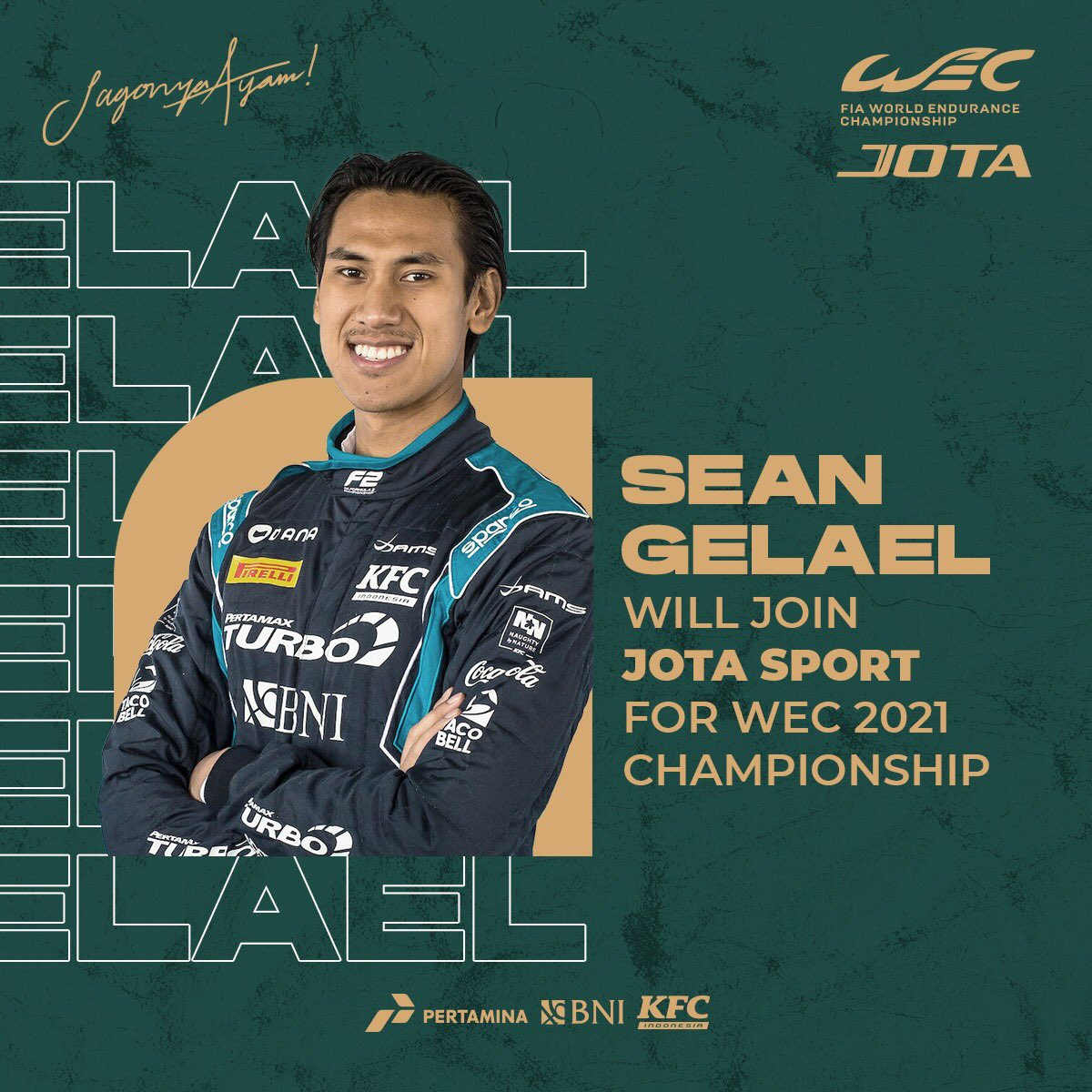 You'll be in great company, @JotaSport!   Best of luck for the coming #WEC season, Sean!