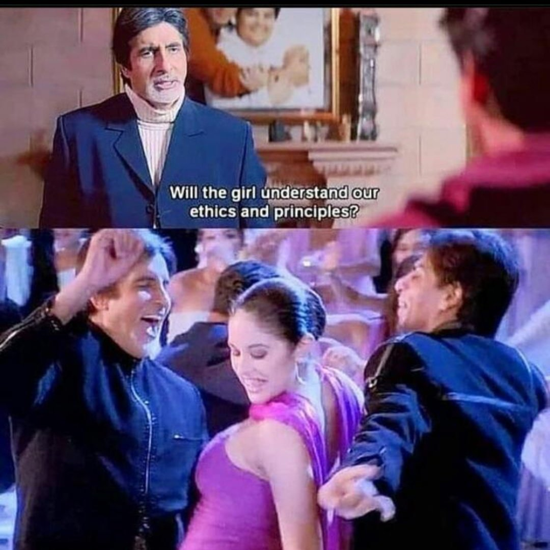 Would she?? Hate these double standards, so realistically portrayed by a movie!  #KabhiKhushiKabhieGham