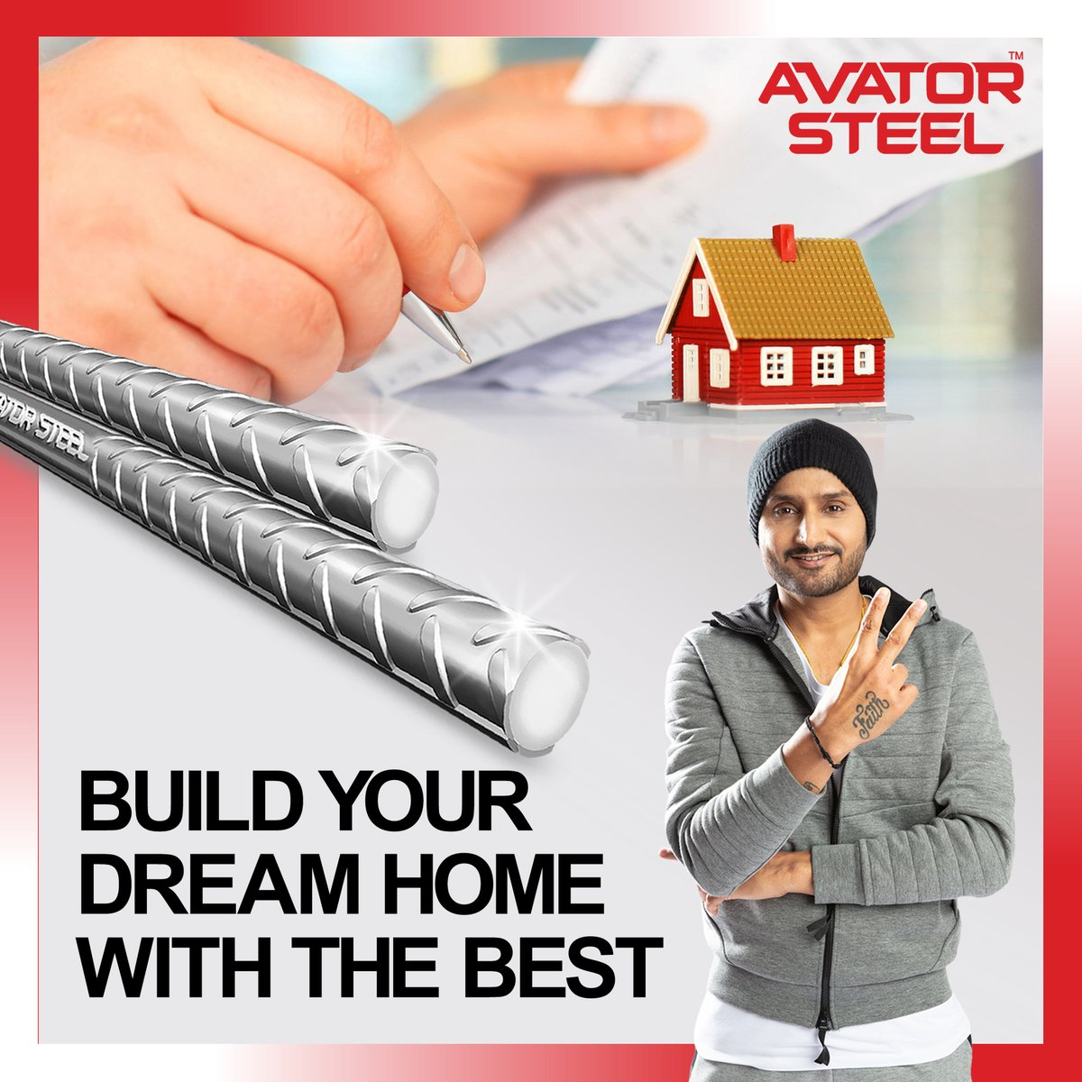 Made with the latest technology, #AvatorSteel gives your home the strength to stand strong for many years.   #HarbhajanSingh #RustProof #EarthquakeProof  @harbhajan_singh