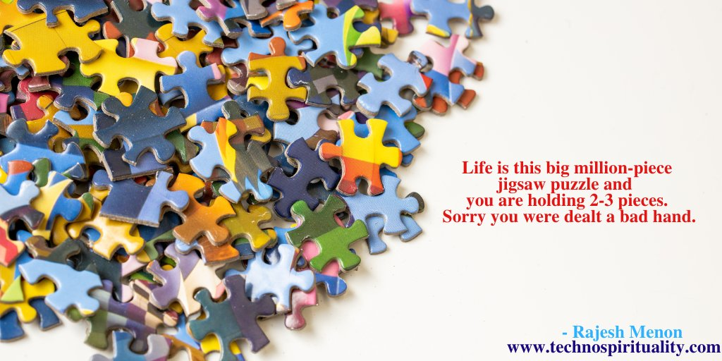 """We are just a minuscule part of this thing called life""  #life #jigsaw #puzzle #destiny #technospirituality #quote #quotes #hr #thursday #thursdayvibes #thursdaythoughts #thursdaymotivation"