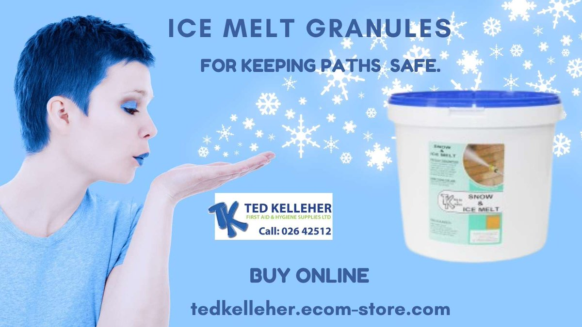 #ThinkSafety - Buy Online Ice Melt Granules for keeping paths etc safe.  #IrishWeather #ice #business #SME #accidents