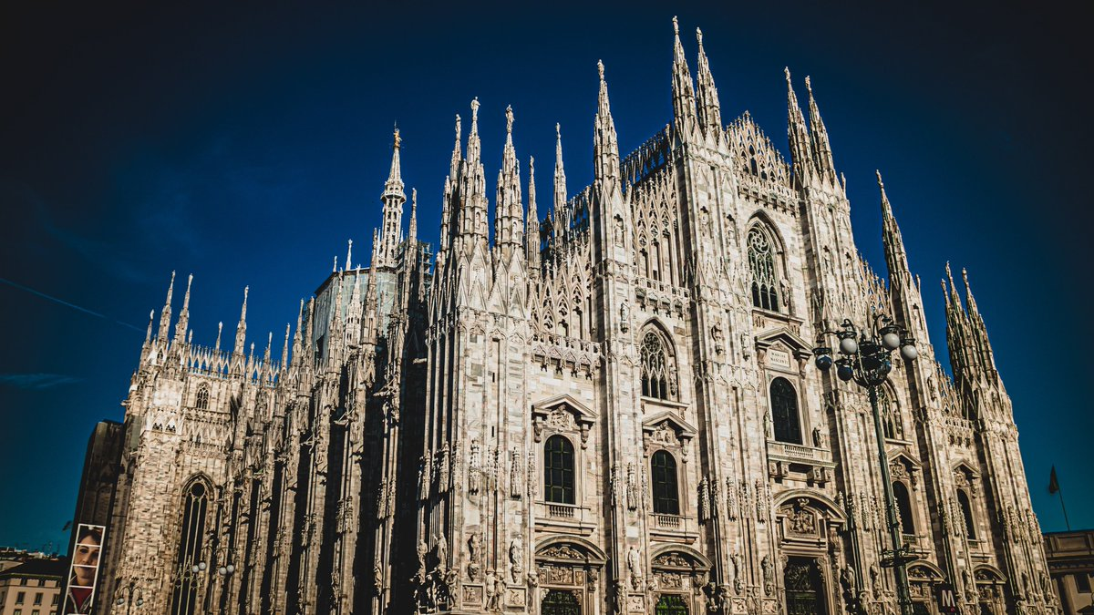 Milano Cathedral, Italy. The cathedral took nearly six centuries to complete. It is the largest church in Italy—the larger St. Peter's Basilica is in the State of Vatican City, a sovereign nation—and the second largest in Europe and the fourth largest in the world. 📷Bekoz Moka