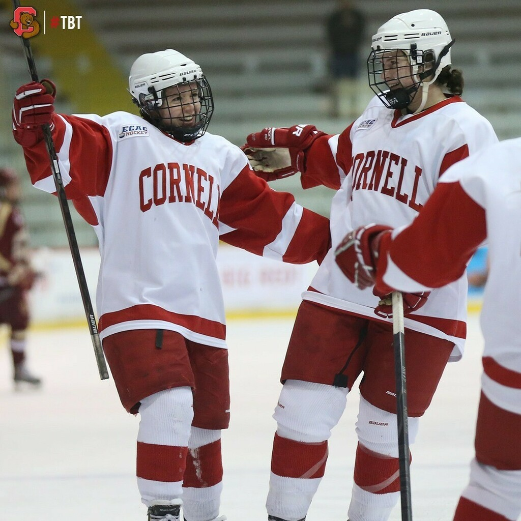 WIH: Checkout this awesome gallery of #ThrowbackThursday images of the Cornell women's ice hockey team competing against Boston College on Nov. 29, 2013! The Big Red defeated the #7-ranked Eagles, 2-0! #TBT #YellCornell   GALLERY: https://t.co/WHiK7TllSZ https://t.co/GtK45m2azI
