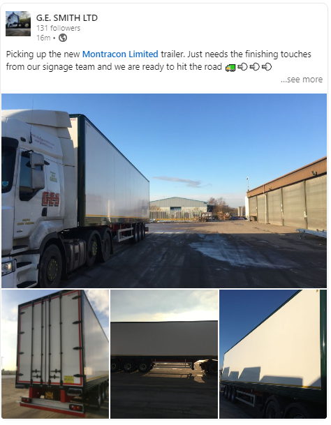 Looks fantastic G E Smith Ltd thank you for sharing and once again thank you for choosing Montracon, The Trailer for Road Transport. https://t.co/IHAdsV1R4U