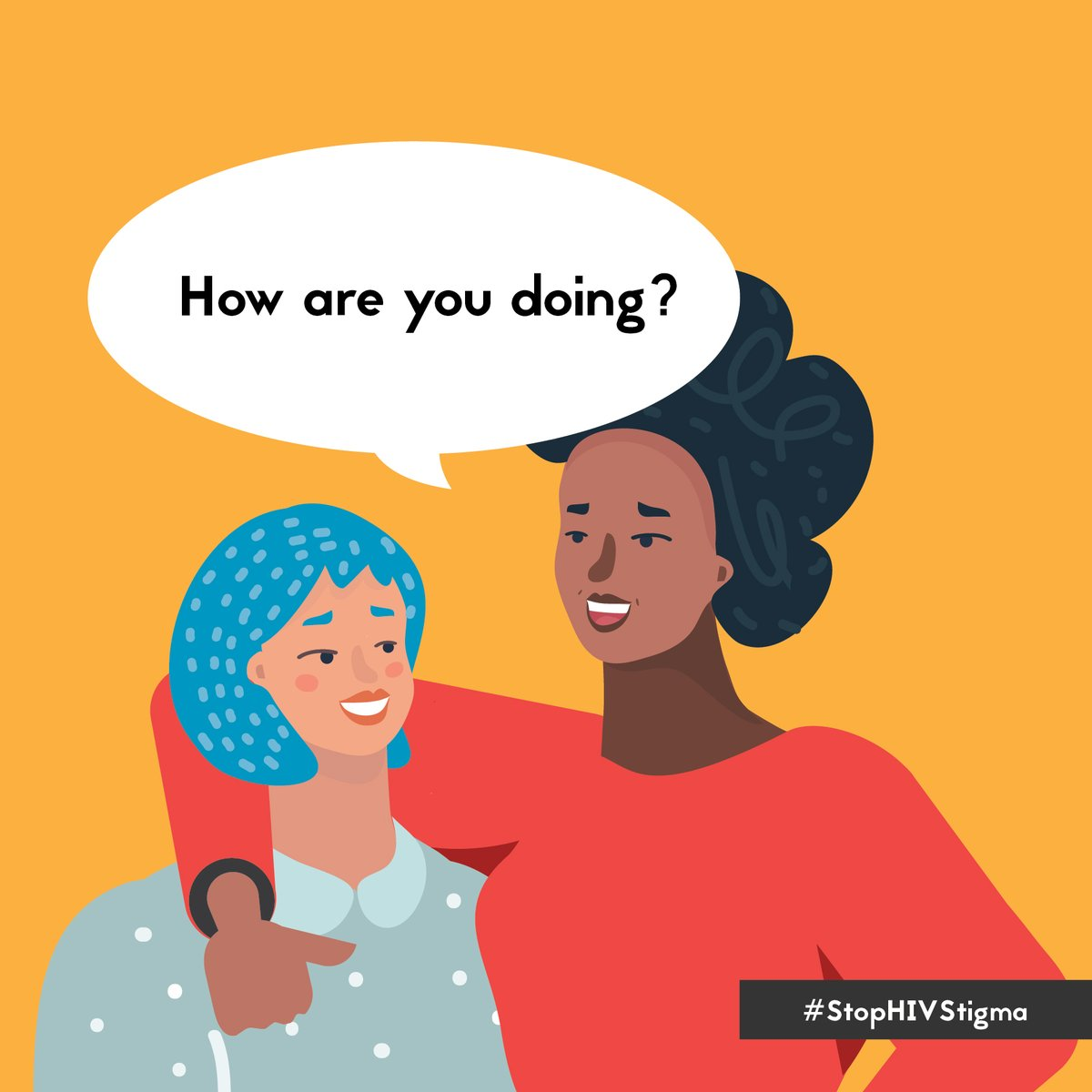 #DYK that you can help end harmful stress for people with #HIV simply by being supportive, and letting people living with HIV know they are not alone? To learn more, visit:  #StopHIVStigma #StopHIVTogether