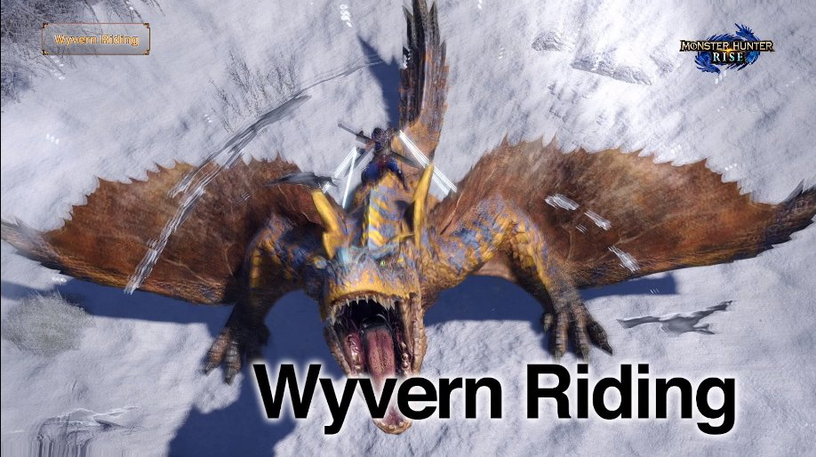 monster hunter wyvern riding