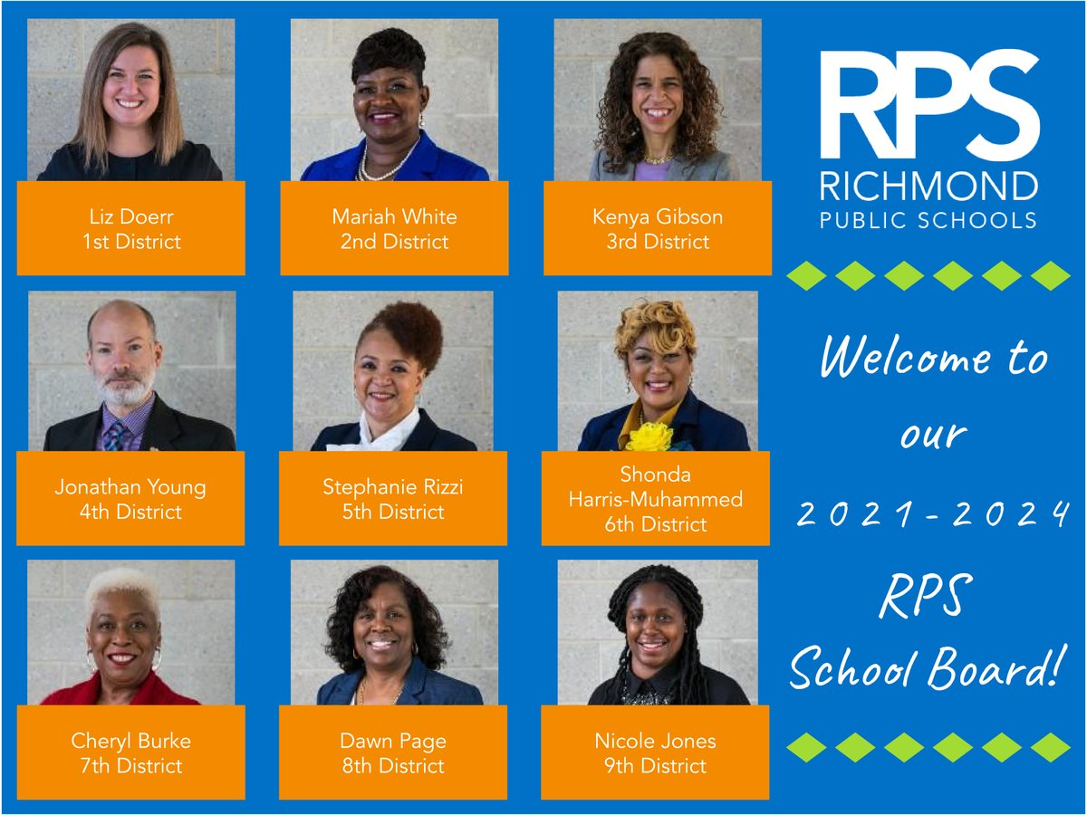 📣Congratulations and welcome to the 2021-2024 RPS School Board! #WeAreRPS #ReopenWithLove #ServeWithLove