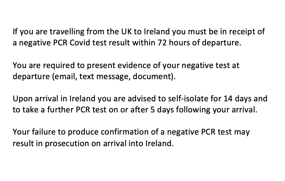 Customer notice for passengers departing from the UK to Ireland - effective from January 9th 👇   For more information, please see here: https://t.co/UrsVibrVSQ https://t.co/Le00ZJURbW