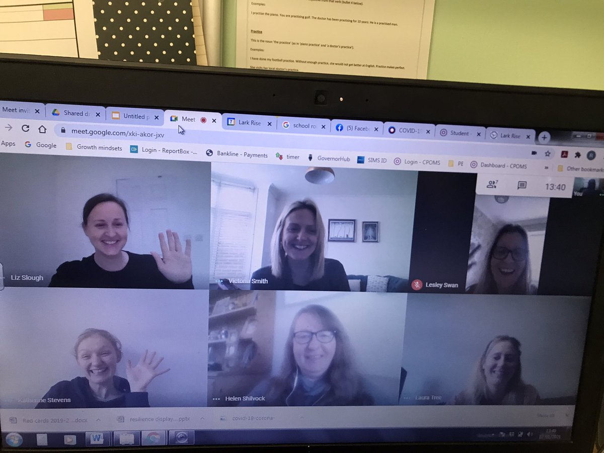 A lovely catch up today with our teachers @larkriseacademy teaching remotely and supporting all of our remote learners #amazingstaff 🥰#cbeebiespresenters 😂