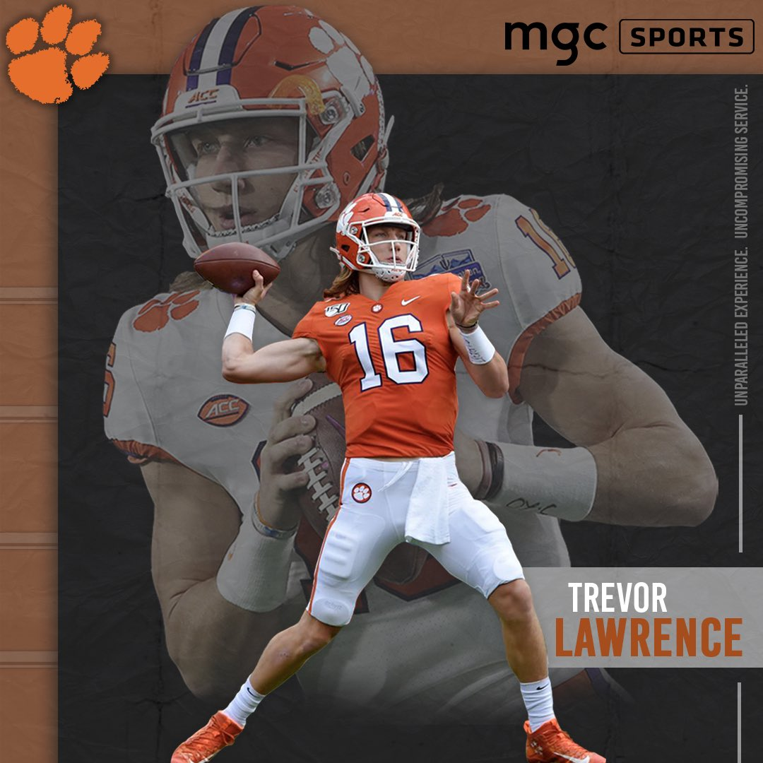Replying to @mgcsports: Welcome to the @mgcsports team @Trevorlawrencee! #FullContactMgmt