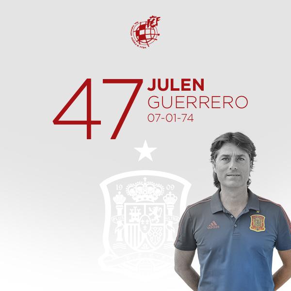 🎂 ¡¡Feliz cumpleaños a @8JULENGUERRERO!!  🤗 Nuestro seleccionador nacional Sub-17, leyenda del @AthleticClub y 41 veces internacional con la @SeFutbol, cumple 47 años.  🥳 ¡¡MUCHAS FELICIDADES!!