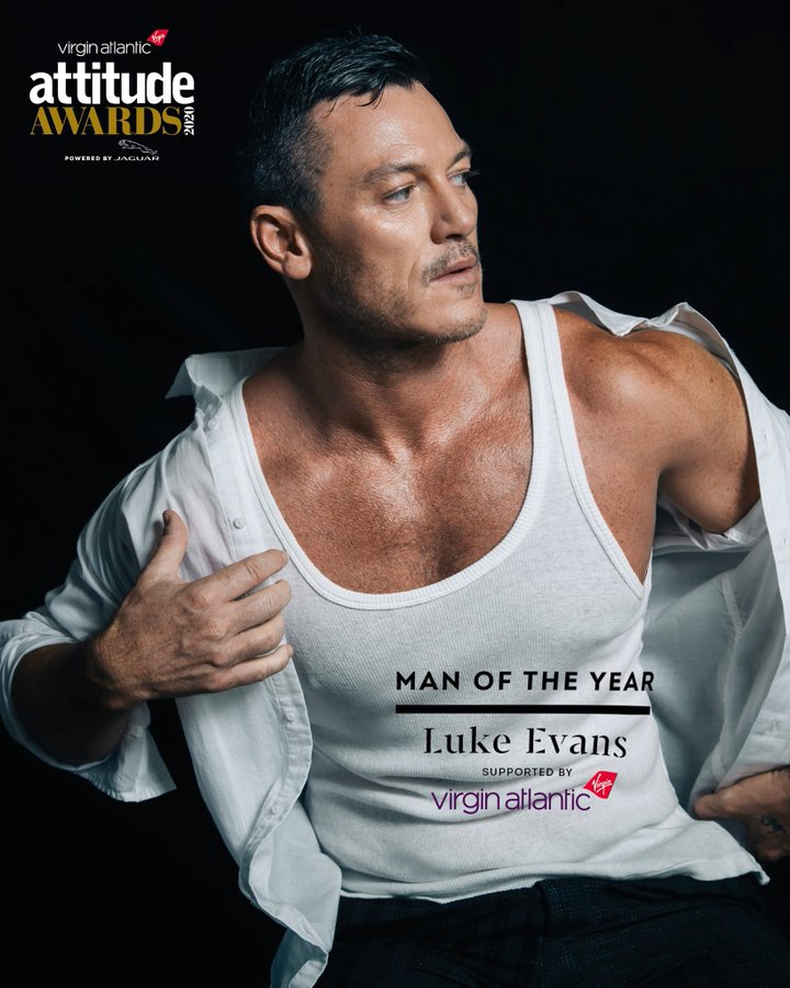 CONGRATS AND GOOD LUCK fOr 2021! 👍❄️☃️❄️💘 Luke Evans @TheRealLukevans  · 1. Dez. 2020 Thank you @AttitudeMag #AttitudeAwards #manoftheyear