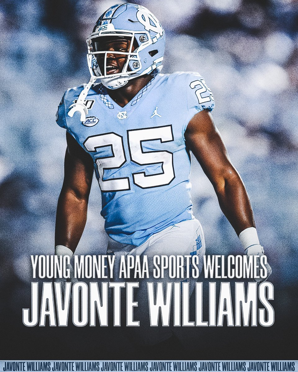 Javonte Williams is officially apart of the FAMILY!  We are excited to have the duo of Javonte & @dazznewsome05 join the YMAPAA family!   #YMAPAA #UNC #TarHeels