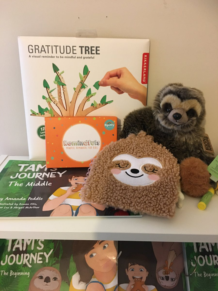 #GIVEAWAY  Times are tough for all, so we thought we would do a giveaway full of fab things to lighten the mood. We have the 'TAMs Journey' Books with our sloth AMAZING #Spiffy @livespiffy  goodies a Gratitude tree  their own remindful cards which are FAB
