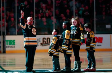 On this day in 2018, the Bruins honoured Willie O'Ree to commemorate the 60th anniversary of his NHL debut #Hockey365 #NHLBruins