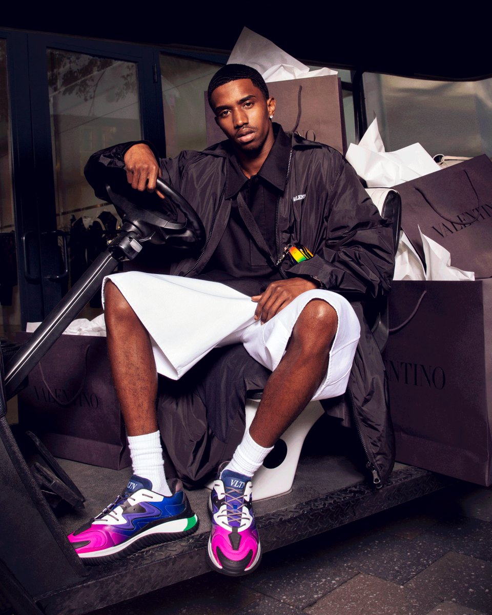 """This isn't a hobby because of who my dad is, this is my passion."" @kingcombs talks about his first EP and growing up in the industry for @CRfashionbook. For the shoot, he was seen in items like the Valentino Garavani Wade Runners and #ValentinoEyewear.  #ValentinoNewsstand"