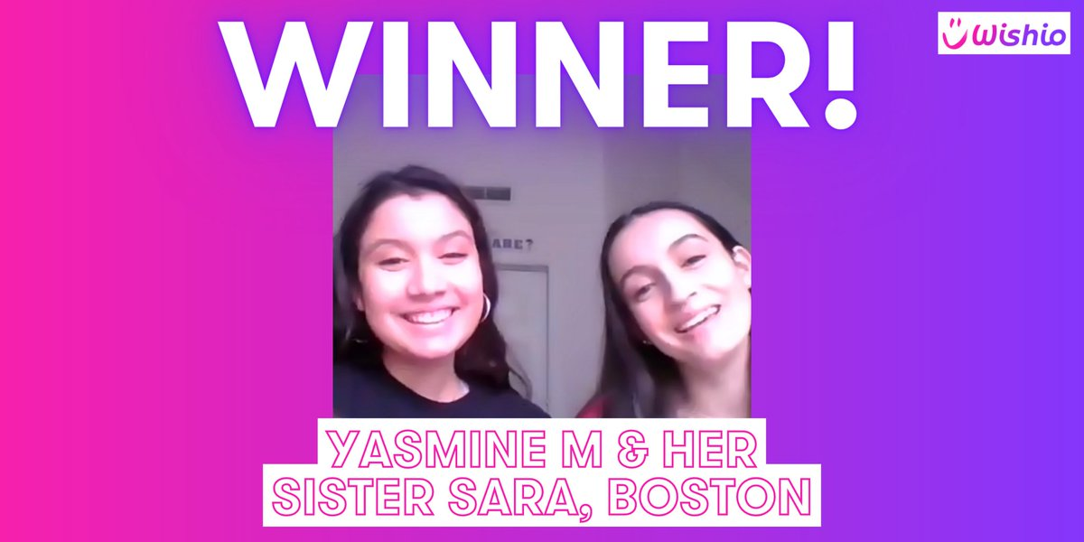 This is the lovely @yasminem108 & her sister Sara, who have won our Wishio with @TheVampsband!  Yasmine is a HUGE fan & is very excited! She'll be sharing the experience with her younger sister, Sara 💜  Thank you to everyone who donated so generously to @weneedcrew ✨