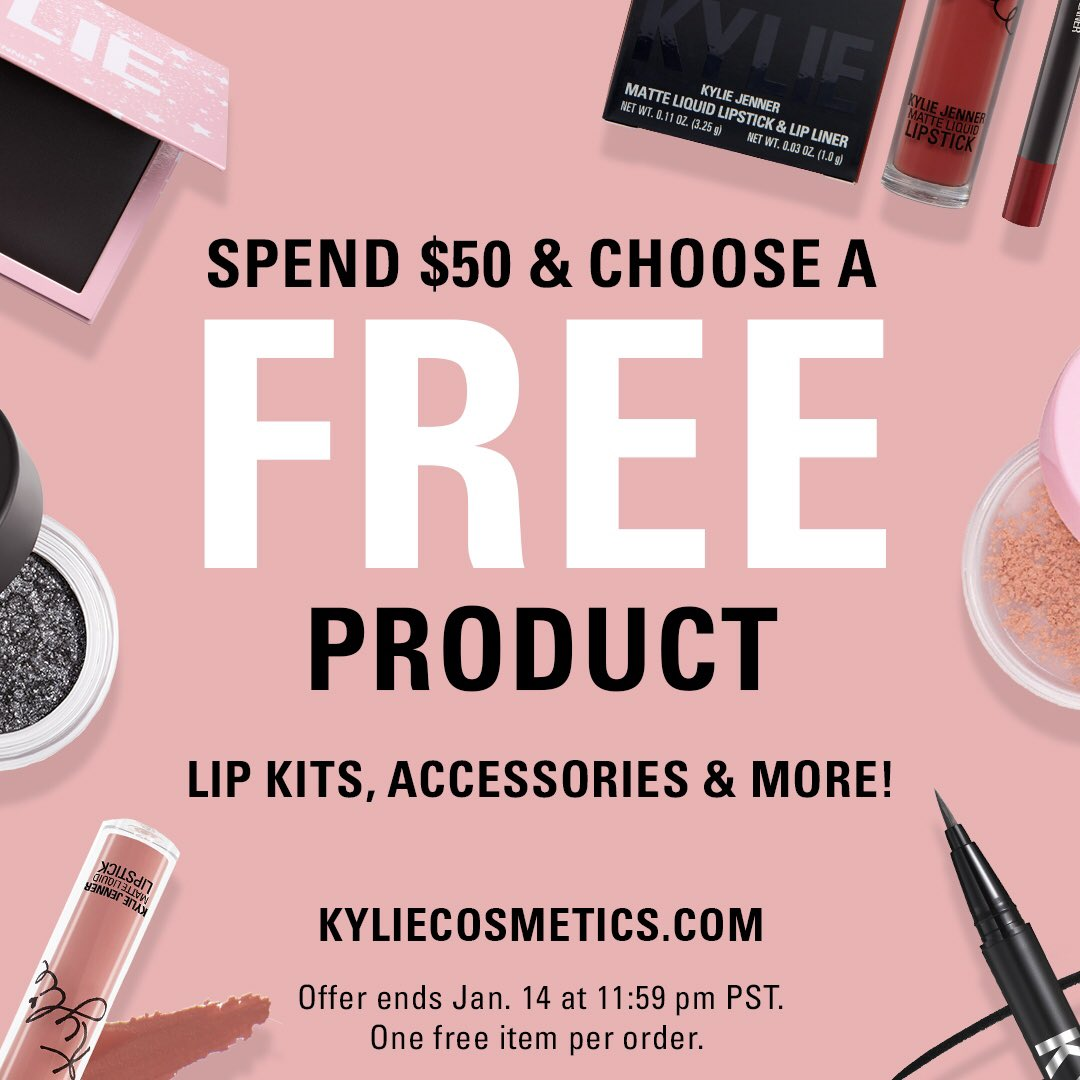 Spend $50 & choose a FREE product starts now on  💋 Sale ends 1.14 11:59pm pst 💕