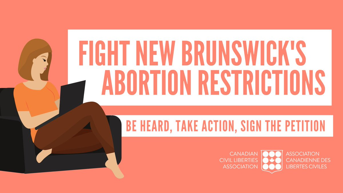 Sign and share if you believe people's bodies do not need to be regulated and that the New Brunswick government must stop restricting coverage for abortions provided outside of hospitals.