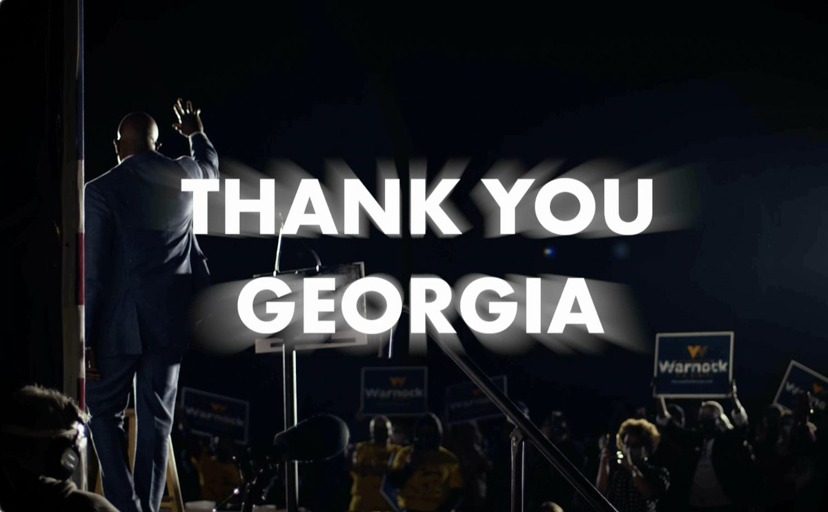 The four most powerful words in a Democracy: The People Have Spoken. Thank you, Georgia. Now it's time to get to work.