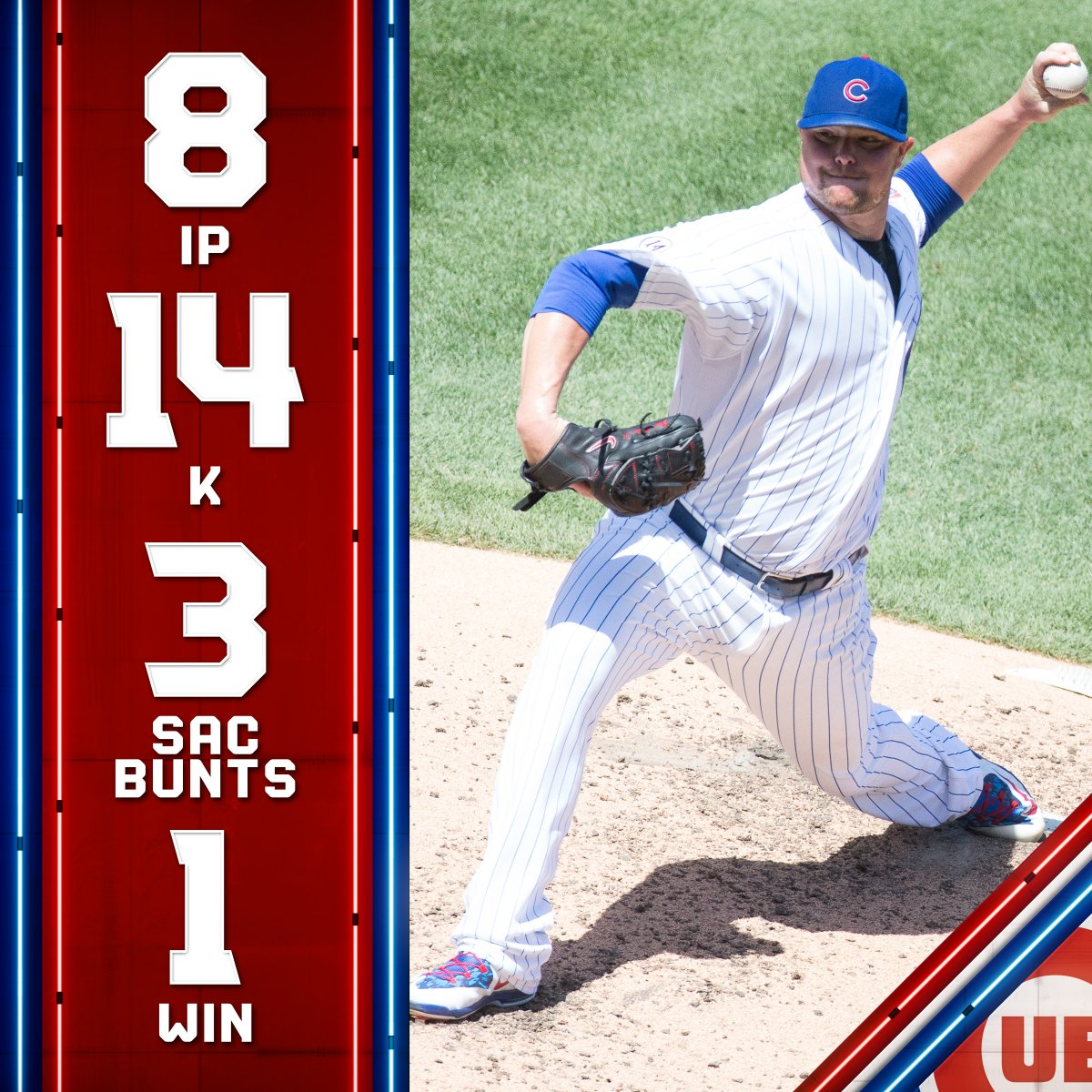 Wishing a happy birthday to Jon Lester!  Big Jon had a @Cubs career-high 14 K's AND 3 sac bunts in the same game 🔥