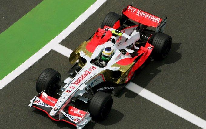 Giancarlo Fisichella, Force India-Ferrari VJM01, 2008 France (Magny-Cours) Happy Birthday