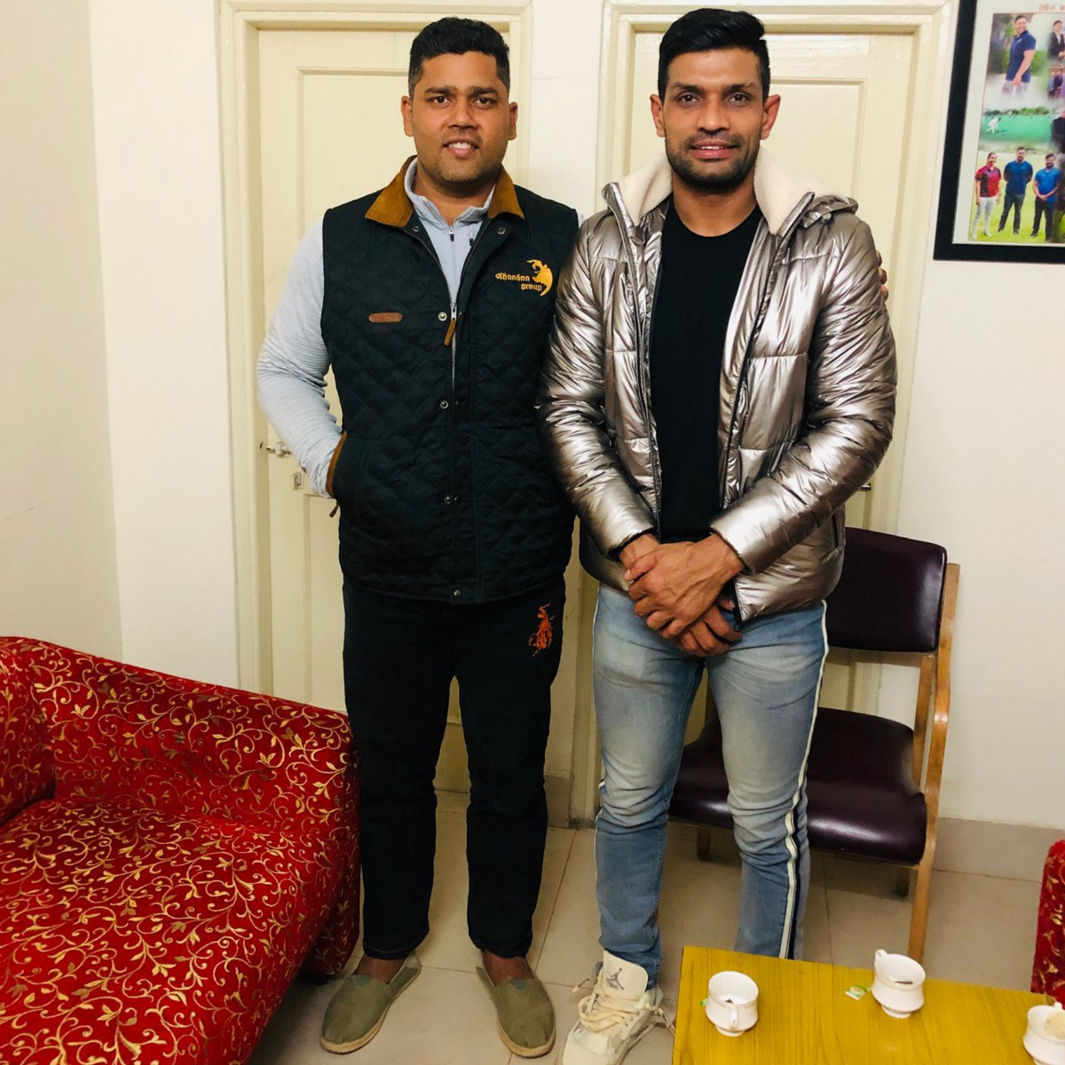 It was an honour to meet @AshokChandnaINC, Minister of Youth Affairs & Sports, RAJ. I admire his views on the development and fantastic work being done by the government of Rajasthan for its sport and sportspersons. @boorasweety04 @SSPARKSPORTS #deepakniwashooda #SSPARK