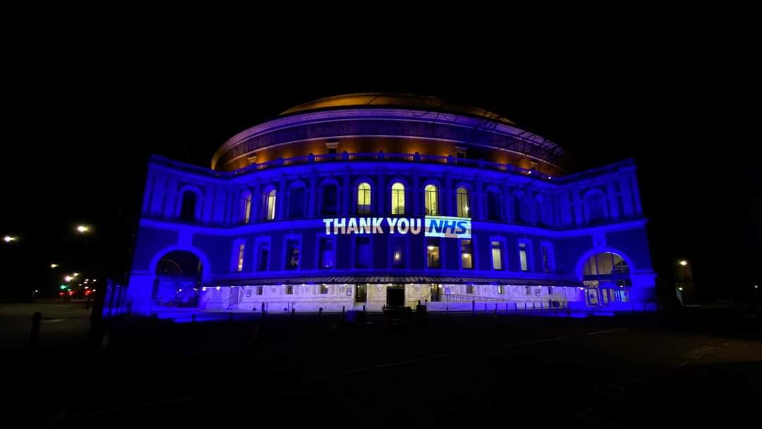 💙 #NHS #LightItBlue  #ThankYouTogether #StayHome #StaySafe