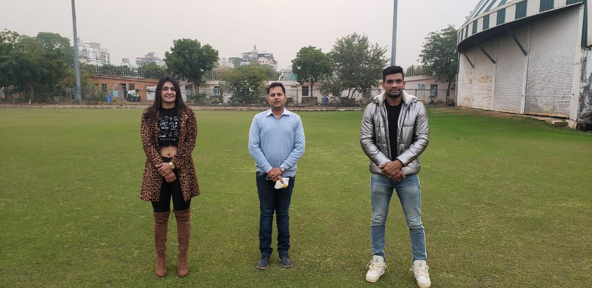 It was a pleasure meeting young, versatile, dynamic, and profound visionary, 𝗦𝗵𝗿𝗶 𝗩𝗮𝗶𝗯𝗵𝗮𝘃 𝗚𝗲𝗵𝗹𝗼𝘁 @VaibhavGehlot80 President,  Rajasthan Cricket Association, Jaipur.  @boorasweety04 @rajeevkhanna1 @SSPARKSPORTS #deepakniwashooda #saweetyboora #SSPARK
