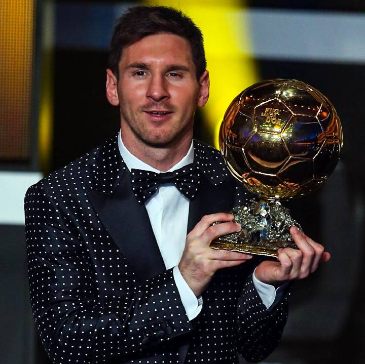 #OTD 🏆 Leo #Messi received his fourth Ballon d'Or! 💙❤️
