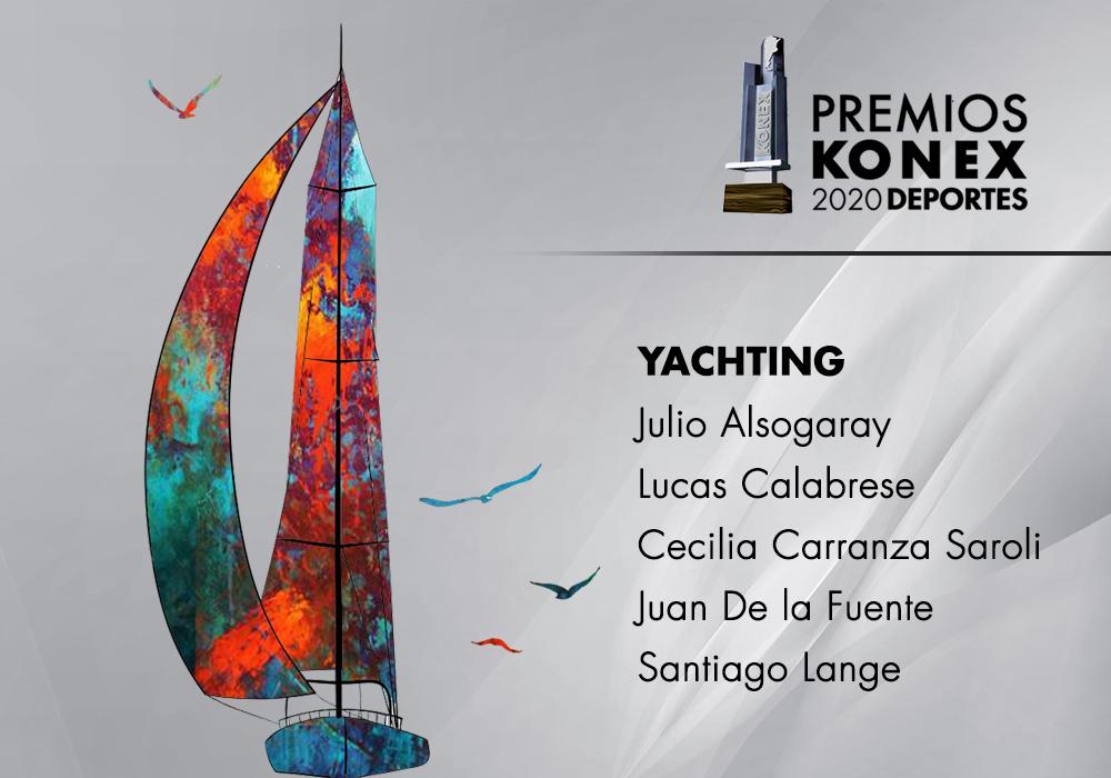 Los mejores de la última década en la Argentina en la disciplina #Yachting, ganadores del #PremioKonex, son:  🔹@julioalsogaray 🔹@LUCASCALABRESE 🔹@carranzasaroli 🔹Juan de la Fuente 🔹Santiago Lange  Acá el listado completo de premiados👇