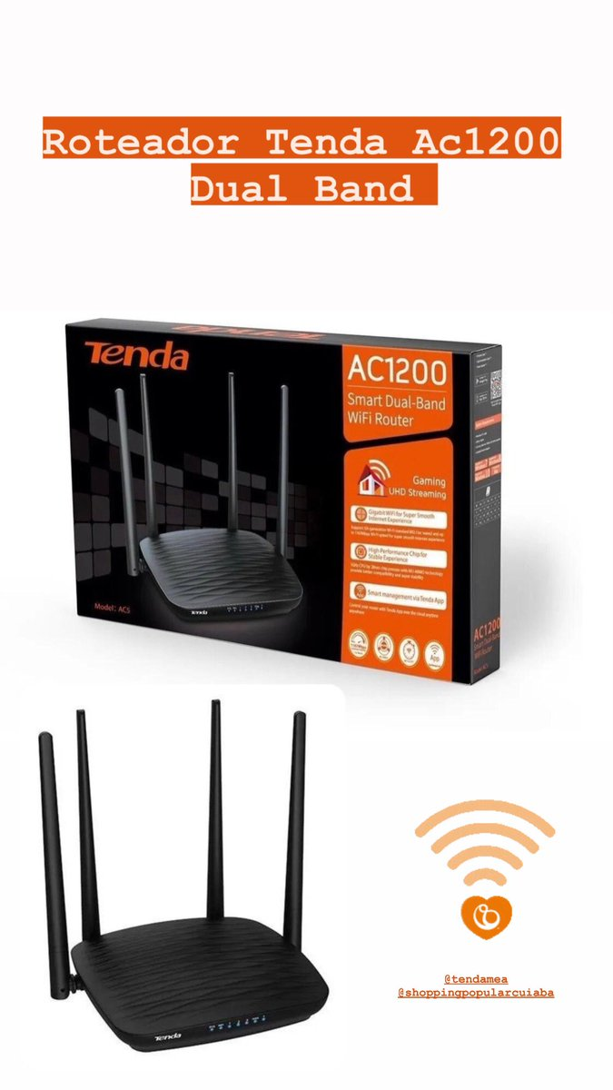 #tenda #roteador #jfinformatica #wifi #Wireless #cuiaba https://t.co/L1Z7xWsSP5