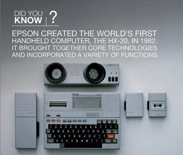 A handheld computer looks much different these days. The HX-20 was the first model in a series of computers that would grow progressively more powerful as the years went by - and look where we are now! #throwbackthursday