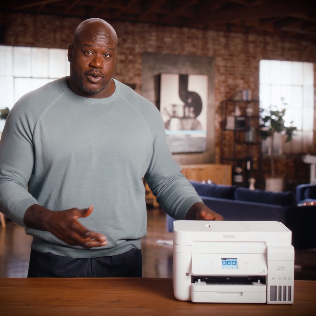 Expensive ink cartridges are history! New year, new printer. Welcome to the new school. 🎓 #EcoTank  #JustFillAndChill #Epson #Shaq #printer #behold #newyear