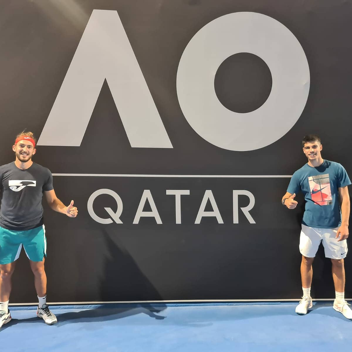 Ya estamos en Doha preparados para disputar la qualy de AO, primer entreno hoy con Mario Vilella# seguimos We are already in Doha ready to play the AO qualification, first practice today with Mario Vilella https://t.co/NYkpgPNitf
