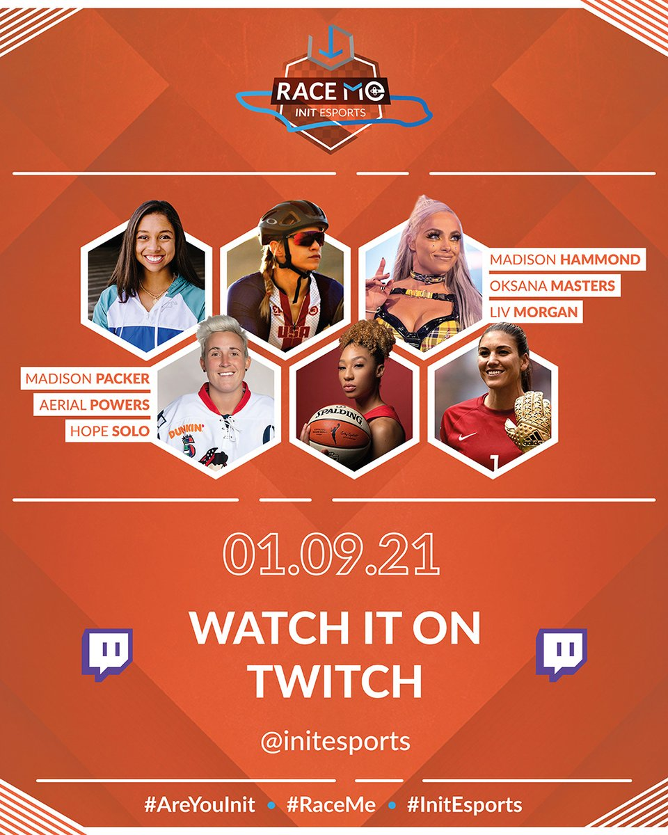"Had the chance to interview amazing athletes and gamers competing in ""Race Me"", an event for gender equality, diversity and inclusion, in support of @GirlUp !   📅 Sat Jan 9th 2PM ET on @init_esports Twitch channel  More info ▶"