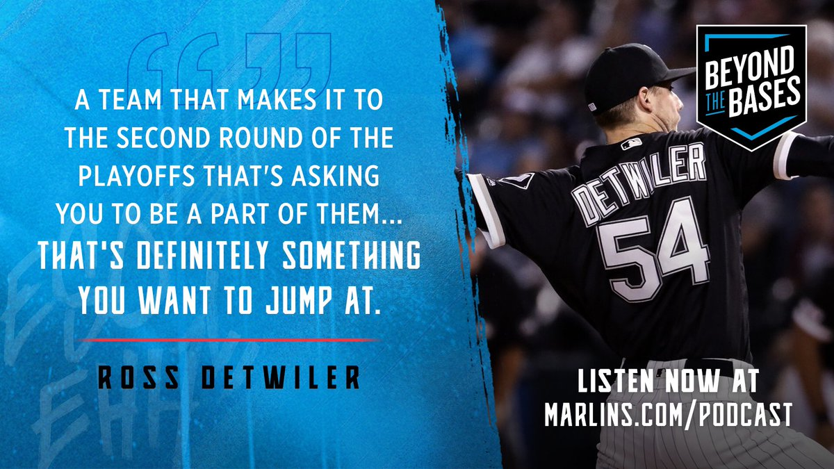 An all new episode of Beyond the Bases is out now with @Marlins reliever, Ross Detwiler: marlins.com/beyondthebases. #305OnTheRise // #JuntosMiami