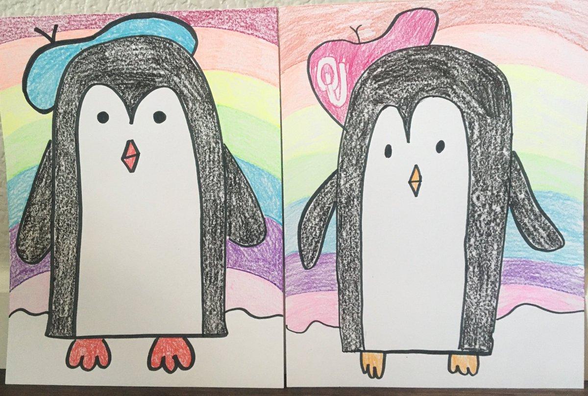 Penguin art with Kindergarten! @Longbranch_Elem @MrsWallingART #misdproud