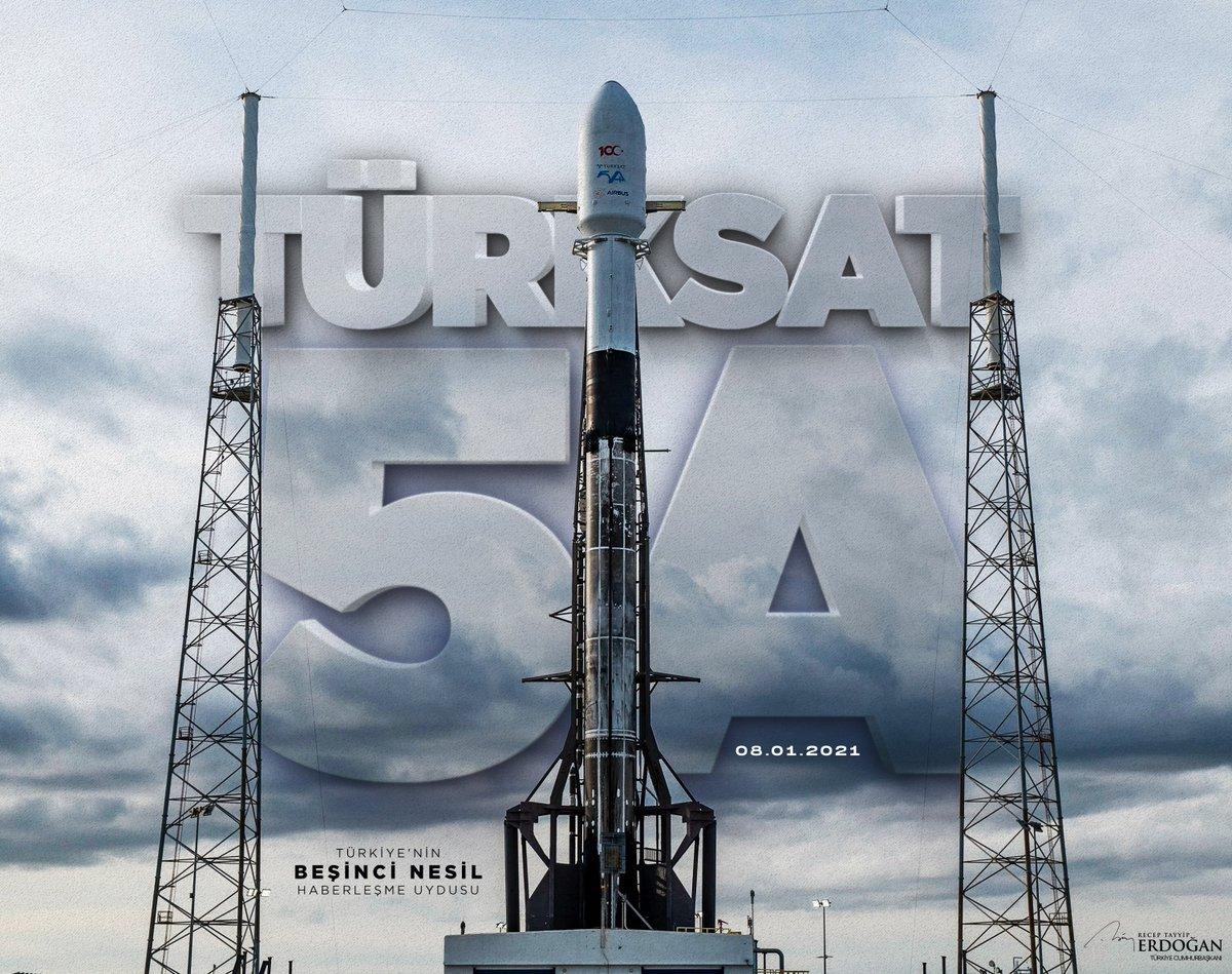 #Türksat5A uzaydan bizlere ilk selamını inşallah yarın verecek. Hayırlı uğurlu olsun. 🇹🇷🛰️