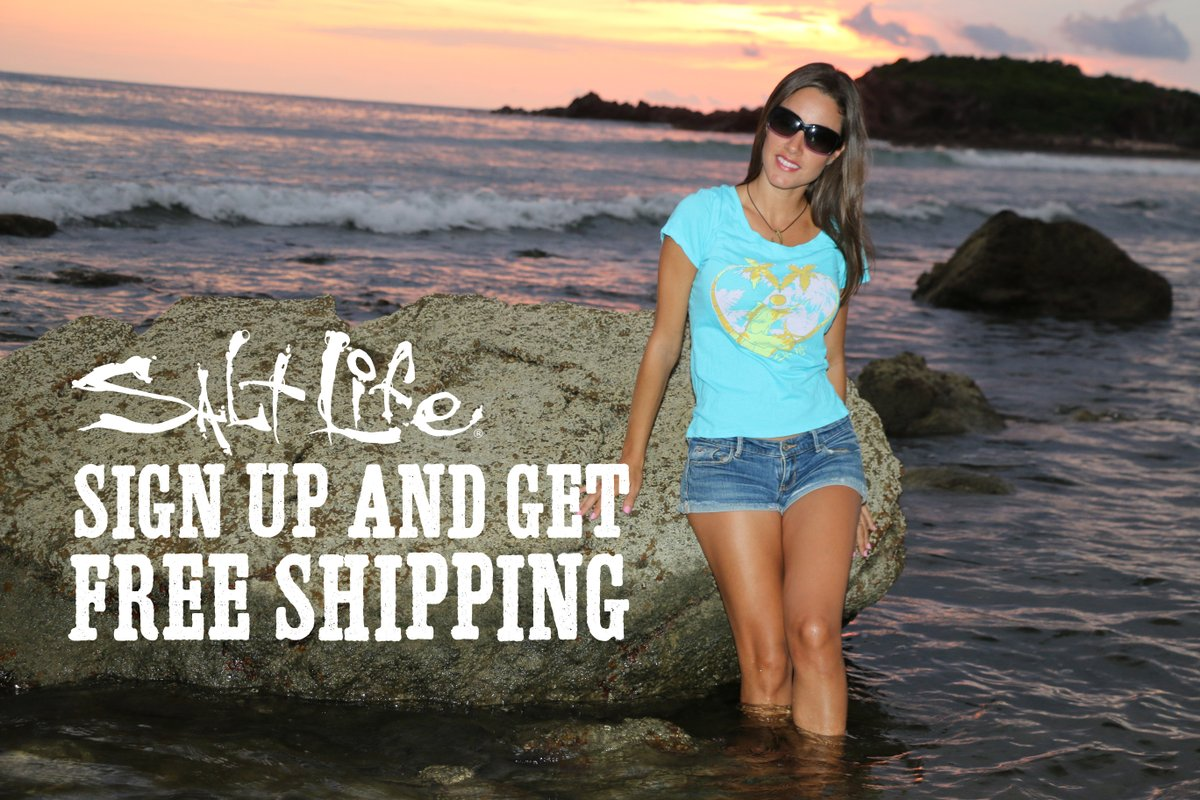 Sign Up for Salt Life Emails and Receive FREE Shipping!! Plus you will be the first to know about sales, promotions and special events!  Sign up today:   #LiveSalty #FreeShipping