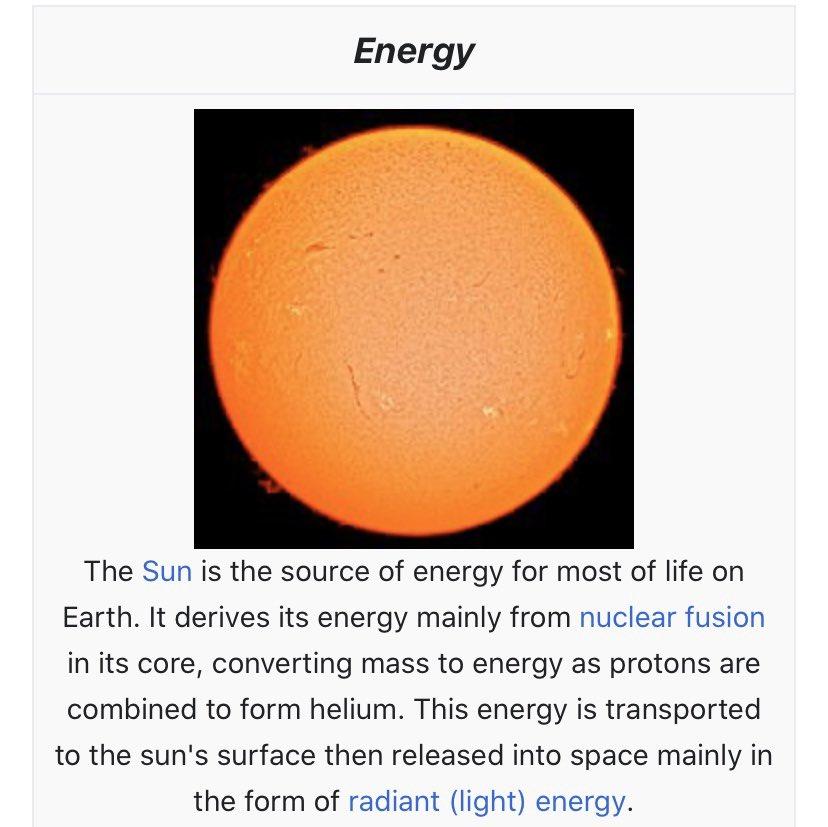 Energy brings light , power, heat...