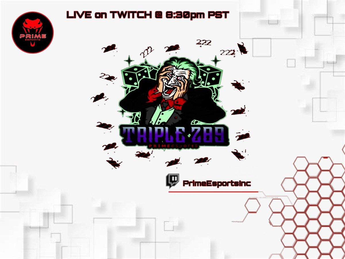 LIVE in 1 hour on #twitch at 8:30 PM PST  Get a chance to team up with our host @Triple289 and show your skills on #stream  Twitch:  Discord:   #CallofDutyWarzone #CallofDuty #streamers #streaming #streamys #esports