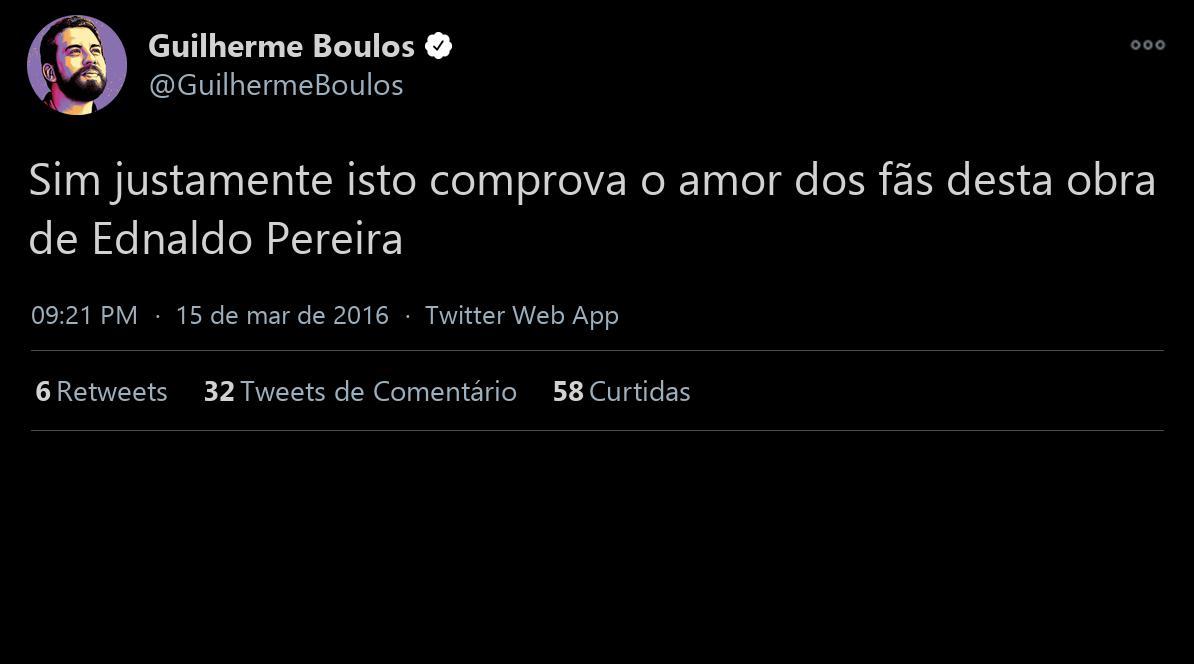 Guilherme  Bolos  declaração  por @famosos_bot  valeu  Ednaldo Pereira https://t.co/AU6CdyphzC