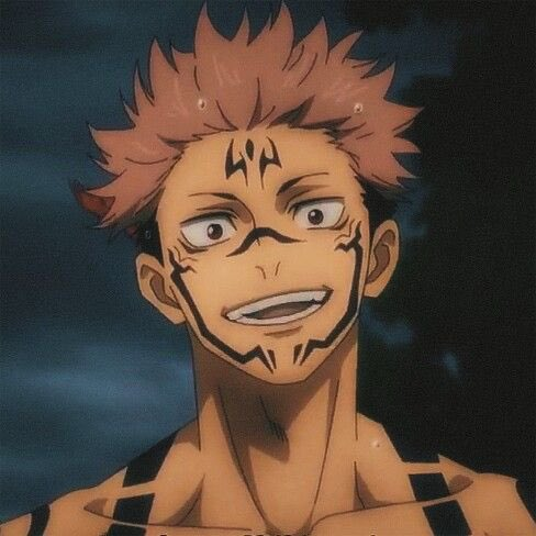 Sarokey سارة Twitterissa Me Let S Check This Anime Out Some Episodes Later Oh My God I Am Sukuna ʖ Know Your Place Lol I Love His Face Tattoos I Was Working