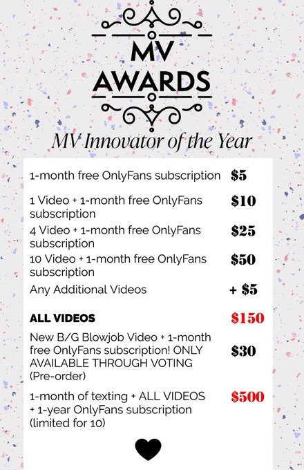 Hi everyone! So today is the start of the MV Awards and I have some special deals for you ❤️ Please Vote